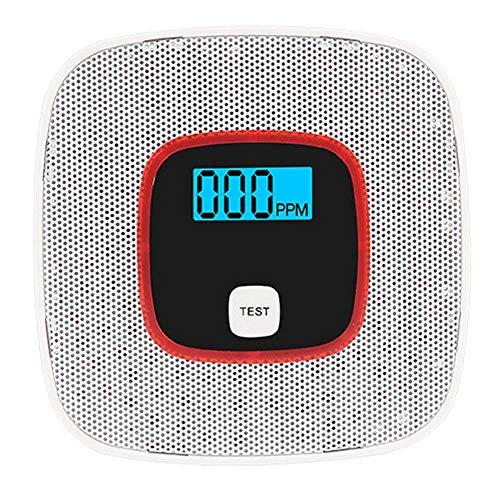 Gasdetektoren Alarm Haushalt Kohlenmonoxid-Detektor Digital Display Sound Light Warning (weiß)
