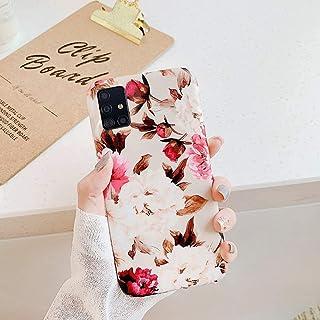 Urhause Fundas para Samsung Galaxy A71,Flores Fundas Carcasa Protección Mate Estuche Brillante Flexible Ligero Ultra Slim ...
