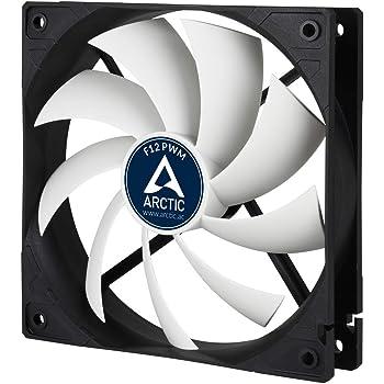 ARCTIC F12 PWM - 120 mm PWM Case Fan, PWM-Signal regulates Fan Speed, Very quiet motor, Computer, Fan Speed: 230-1350 RPM - Black/White