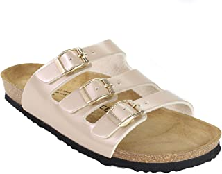 JOE N JOYCE Paris Women Sandals | Comfortable Cork Sandals with Comfort Footbed and Leather Footbed Lining | Narrow and Normal Width | Sizes W5-W11 | Fashion Colors