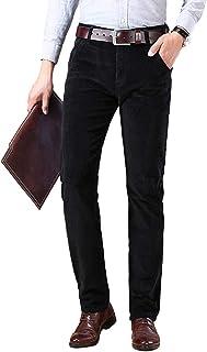 Lentta Men's Business Casual Straight Leg Slim Stretch Corduroy Long Pants