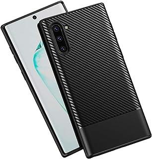 Galaxy Note 10 Case,OWRORA Carbon Fiber Texture TPU Ultra Thin Flexible Cover Premium Soft Silicone Dustproof Cover Shockp...
