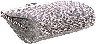Fe Diamante con 20x 10cm plata de cadena/embrague bolsa (CL36)