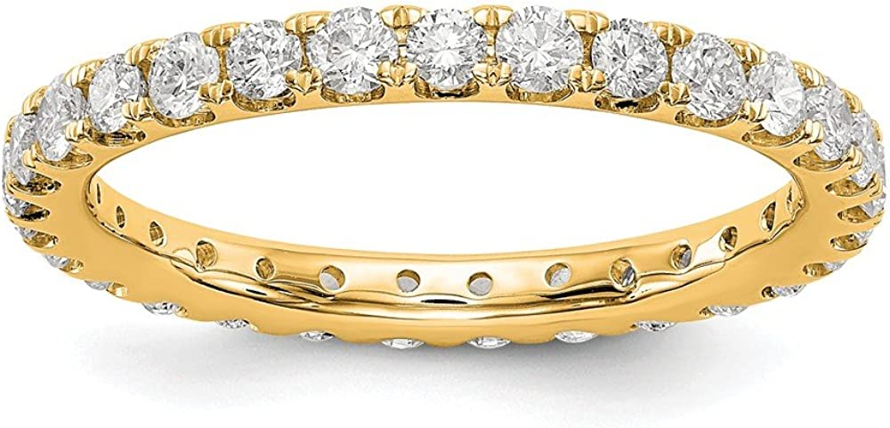 Solid 14k Yellow Gold Lab Grown Diamond 1ct. Anniversary Wedding Band Eternity Ring Size 4.5
