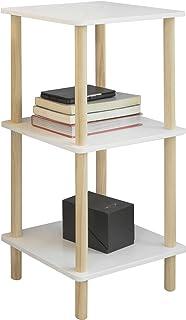 SoBuy STR02-K-WN Estantería de 3 Niveles para Baño Librería Escalera 36 * 36 * 75 cm ES (36 x 36 x 75 cm)
