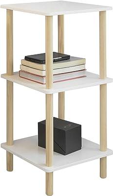SoBuy STR02-K-WN Estantería de 3 Niveles para Baño Librería ...