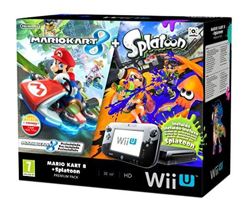 Nintendo Wii U - Consola Premium HW + Mario Kart 8 + Splatoon - Limitado