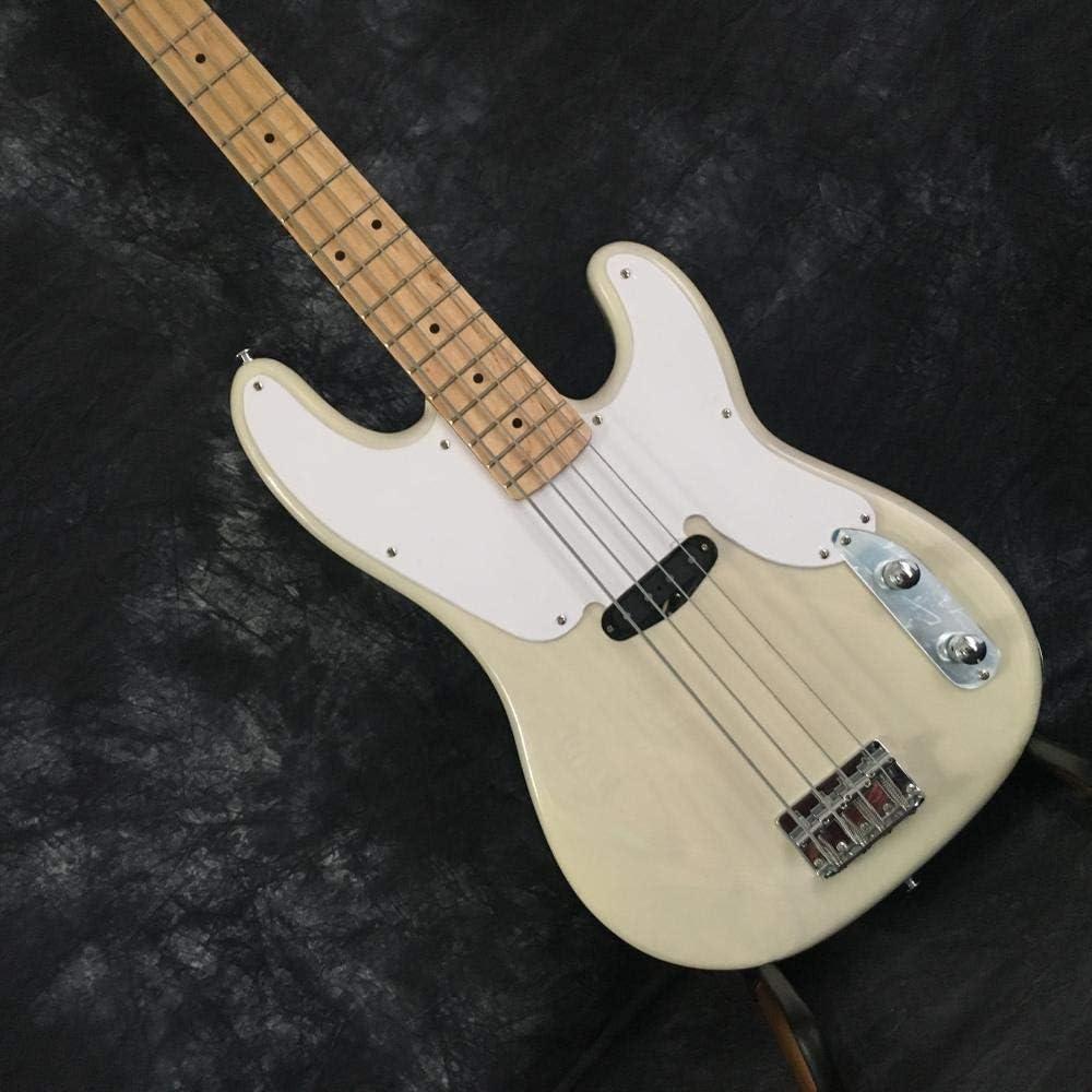 LYNLYN Guitarras Instrumento De Jazz 4 Cuerdas Blanco Bajo Guitarra Eléctrica Guitarra Cuerda Acústica Acústico Acero Cuerda Guitarra Guitarra eléctrica (Size : 40 Inches)