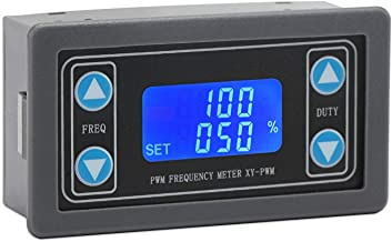 Droking Generador de señal PWM, 1Hz ~ 150kHz Frecuencia de Pulso Ajustable Relación de Trabajo Ciclo de Trabajo Módulo PWM 3.3-30V 12V / 24V Generador de Onda Cuadrada Rectangular Pantalla LCD