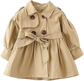 JIANLANPTT Baby Girls' Trench Coat Jackets Outwear Solid Thin Overcoat