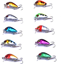 Aorace Fishing Topwater Lures Swimbait Fishing Bait 3D Fishing Eyes Popper Crankbait Vibe Sinking Lure for Bass Trout Wall...