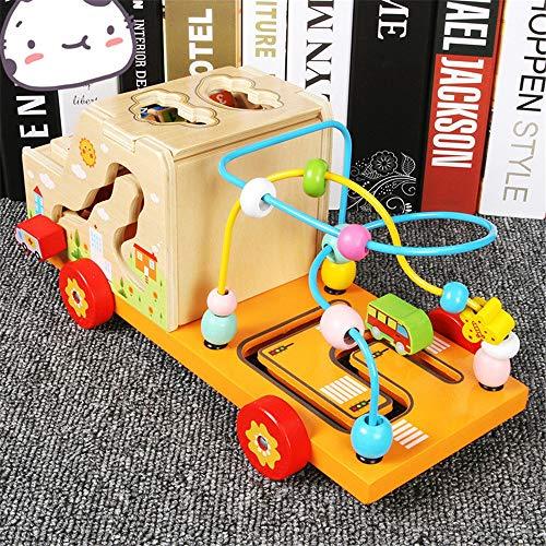 Kinderspielzeug Spielzeug Lernen Color : Multi-colored , Size : Free size Bildungsaktivit/ät Spielzeug Early Learning Activity-W/ürfel Spielzeug H/ölzerner Aktivit/ätsw/ürfel Ziehen /& Lernen Auto