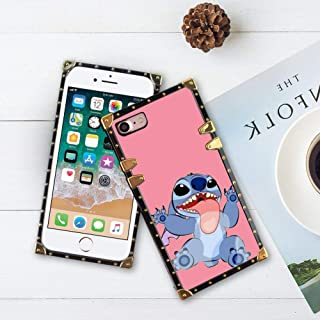 DISNEY COLLECTION Square Phone Shell Case Compatible with Apple iPhone 8 & iPhone 7 (4.7 Version) Disney Wallpaper Lilo Y Stitch Tumblr Cartoon