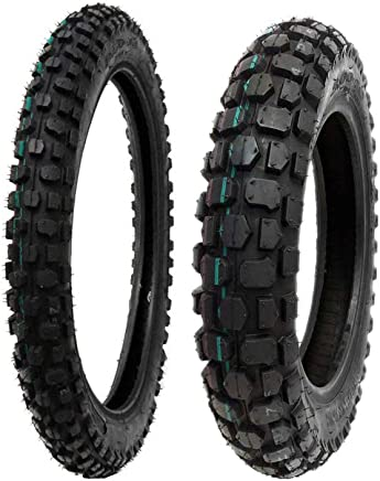 TIRE SET: Front 2.50-14 Rear 3.00-12 Dirt Bike Off Road