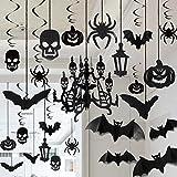 JOYIN Decoración de Halloween Colgantes Techo Decoración de Araña Murciélago Araña Cráneo para Halloween Fiesta