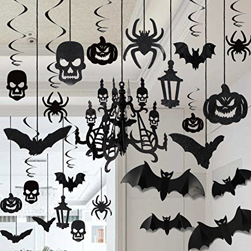 JOYIN Halloween Party Decorazione Casa Kit Haunted House...