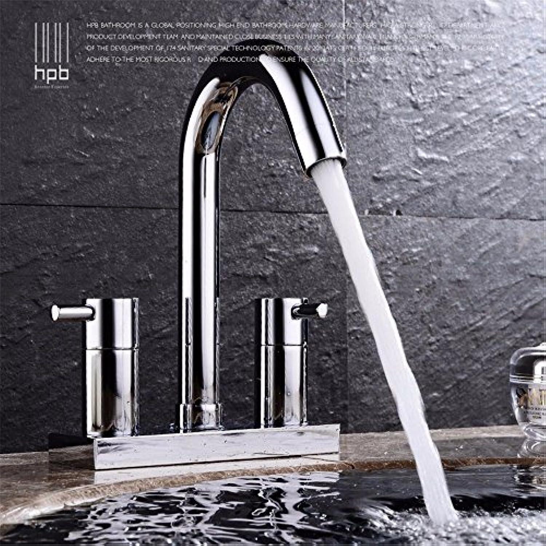 NewBorn Faucet Wasserhhne Warmes und Kaltes Wasser groe Qualitt der Kupfer 2 - Holehot und Kalt 3-Loch Waschbecken Waschbecken Wasser S Tippen Sie doppelt Nehmen