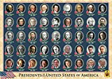 UNCLE WU Kids USA President Learning Placemat/Educational Post Wall-16 x 12 inch Waterproof Placemat