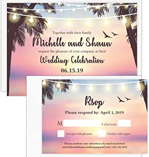 destination wedding invitations with rsvp