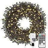 Led Lichterkette Strom 30M 300 LED mit Fernbedienung Timer Merkfunktion Lichterkette Steckdose IP65 Wasserdicht für Innen und...