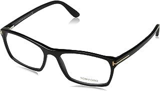 TF 5295 001 Shiny Black Clear Butterfly Eyeglasses 56mm