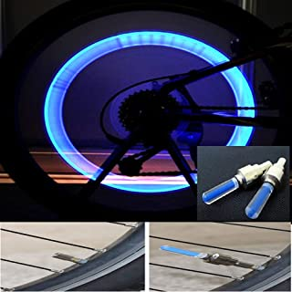 4 قطع أضواء ليد فلاش بألوان مختلطة وأضواء نيون ليلية لإطارات الدراجة والسيارة أضواء غطاء صمام