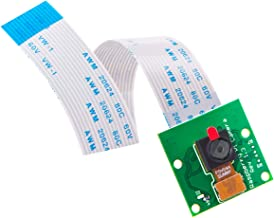 AuviPal 5 Megapixels Raspberry Pi Camera Module 1080p OV5647 Sensor with 6 inch 15 Pin Ribbon Cable for Model A/B/B+, Pi 2, 3, 3B+ and Pi 4
