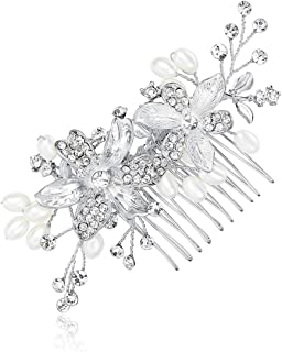 Handmade Wedding Hair Comb Flowers Branch Simulated Pearl Bridal Hair Accessories Party