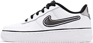 NIKE Kid's Air Force 1 LV8 Sport GS, White/Black-White