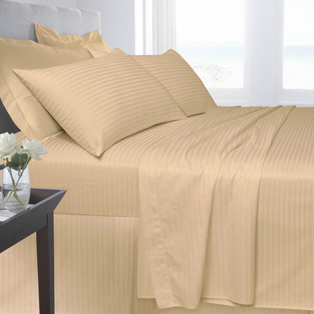 Aqua, Single AmigoZone 100/% Egyption Cotton 250 Thread Count Saten Stripe Flat Sheets