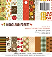 American Crafts Pebbles Woodland Forest 6 x 6 36 Sheet Paper, Pad by American Crafts