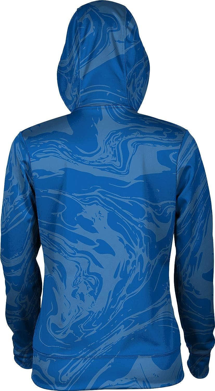 Hampton University Girls' Pullover Hoodie, School Spirit Sweatshirt (Ripple)