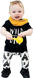 Baby Set,Leegor Casual Letter Print T-Shirt +Pants Clothing Clothing Suit