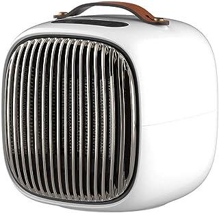 LIANYANG Ventilador Calefactor, pequeño y portátil Mini Escritorio Solar eléctrico para el hogar, Tres Engranajes, cerámica táctil Inteligente (Color: Blanco, Tamaño: 16.7 * 17.6 * 18.1cm)