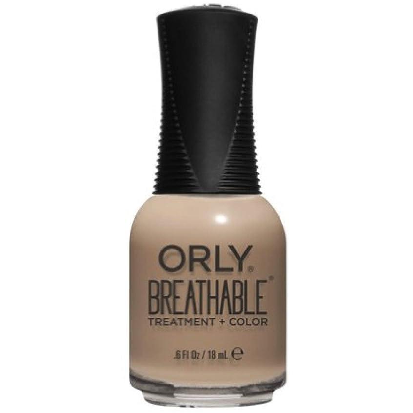 退化する言うまでもなくきつくOrly Breathable Nail Lacquer - Treatment + Color - Bare Necessity - 0.6 oz / 18 mL