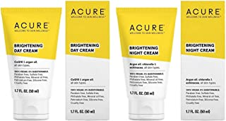 Acure Organics Anti-Aging Natural Day and Night Face Cream With Argan Oil Bundle