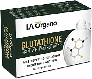LA Organo Glutathione Skin Whitening Soap For Brightening & Whitening For All Skin Types, 75 g