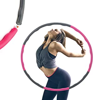 ALLYAOFA Weighted Hula Hoop, 2.65lb, 37.79in Wide 8 Section Detachable Design The Original Foam Padded - Professional Fitn...