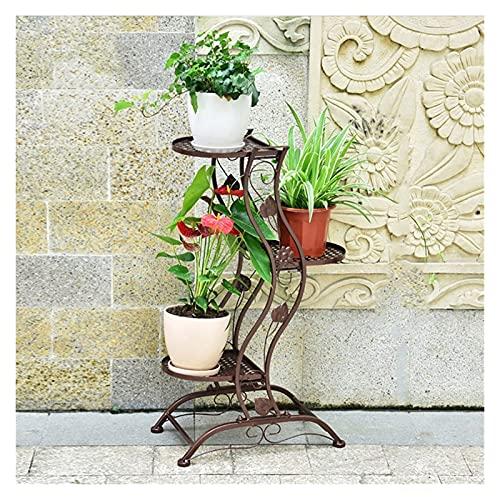 Style Européen Fleur Cadre Blanc Salon Intérieur Multi - Étagère Fleur Étagère Balcon Bonsai Cadre (Couleur : Bronze, taille : 45 * 27 * 80cm)
