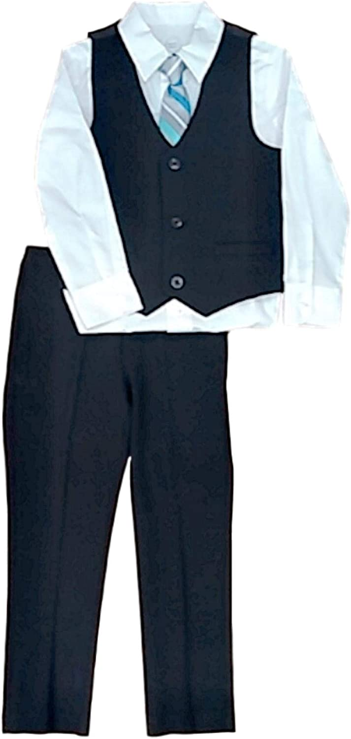 Boys Suit Year-end gift Set with depot Vest Button-up Tie Shirt 4-Piec and Pants