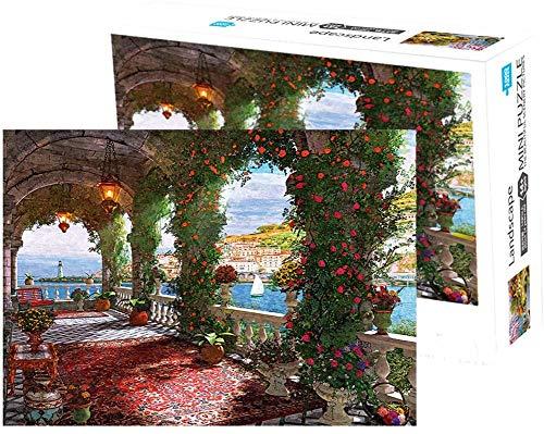 Herize Puzzle 1000 Piezas Adultos para Niños | Puzzle de Paisajes 1000 Corredor Rosa Creativo Puzzle Regalos Mujer Intelectual Juegos de Rompecabezas para la Damilia Decoración del Hogar 70 x 50 CM