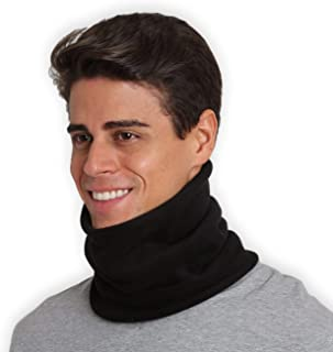 Fleece Neck Warmer - Neck Gaiter Tube, Ear Warmer Headband & Face Mask. Ultimate Thermal Retention, Versatility & Style. Constructed with Super Soft Fleece & Microfiber