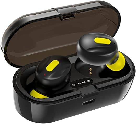 WeCool Moonwalk Mini Earbuds with Magnetic Charging Case IPX5 Wireless Earphones with Digital Battery Indicator for Crisp Sound Bluetooth Earphones...