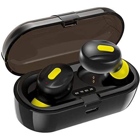 WeCool Moonwalk Mini in Ear Earbuds with Magnetic Charging Case IPX5 Wireless Earphones with Digital Battery Indicator for Crisp Sound Bluetooth Earphones with Mic for Secure Sports Fit
