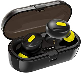 WeCool Moonwalk Mini Earbuds with Magnetic Charging Case IPX5 Wireless Earphones with Digital Battery Indicator for Crisp ...