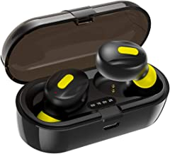 WeCool Moonwalk Mini TWS Bluetooth Earphones or True Wireless Earbuds with Magnetic Charging Case, IPX5 Wireless Earphones with Digital Battery Indicator for Crisp and Clear Sound, Secure Sports Fit