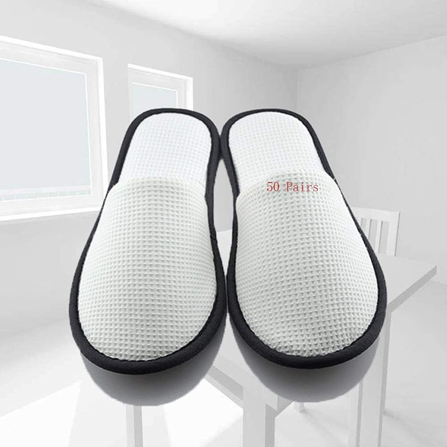 Disposable slippers,spa slippers unisex Disposable Slippers Men's Slippers Sauna Slippers 50 Pairs Of Boys Thickening Anti-static color Non-slip Slippers EVA Women's Slippers Hotel Home Hospitality gu