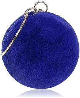 Shoulder Bag Evening Bag Clutch Box Handbag Women's Clutch Purse Crossbody Shoulder Handbag Round Ball Evening Bag Cocktail Party Wedding Purse Party Bridal Prom Handbag Clutch (Color : Blue)