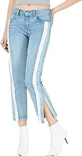 Rewash Juniors' Striped Snap-Side Jeans