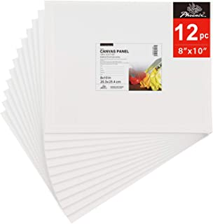 PHOENIX Painting Canvas Panel Boards - 8x10 Inch / 12 Pack - 1/8 Inch Deep Super Value Pack for Oil & Acrylic Paint